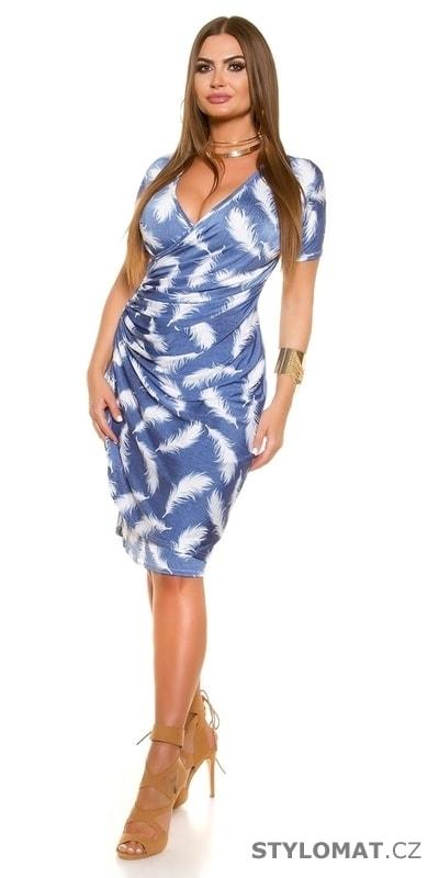cf0bb9e18a18 Zavinovací šaty pro plnoštíhlé - Koucla - Krátké letní šaty
