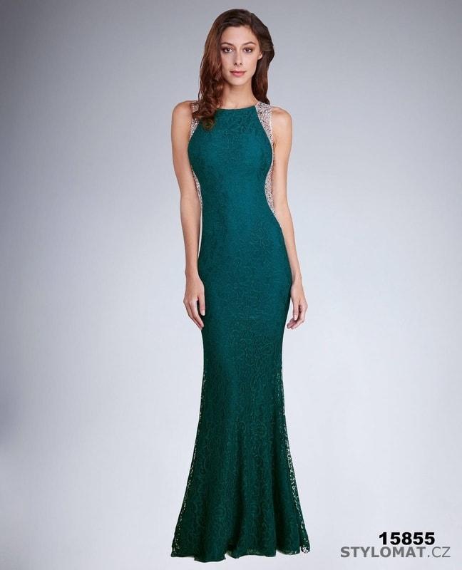 2ad4bd25a24f Krásné plesové šaty bez rukávů - Soky Soka - Dlouhé společenské šaty