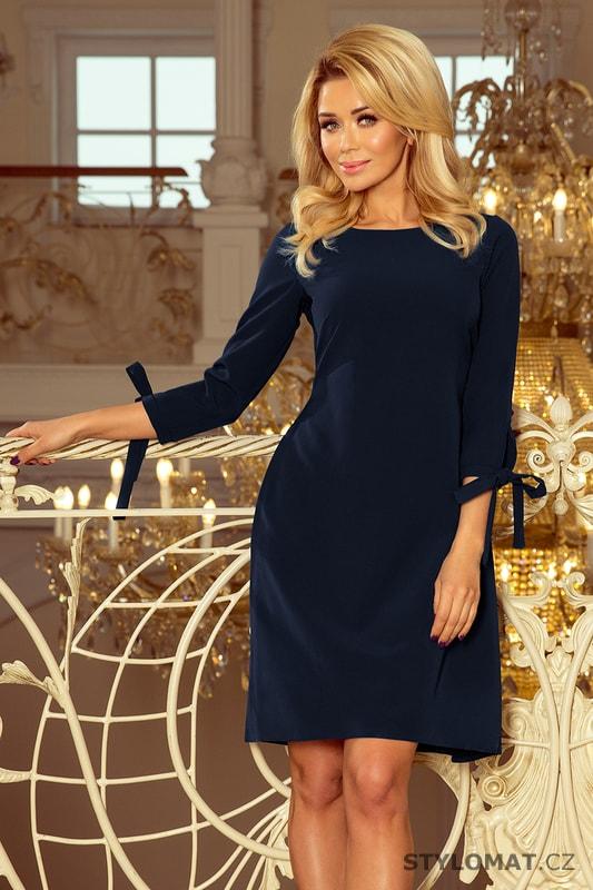 3dfadbfb25d5 Decentní dámské šaty tmavě modré - Numoco - Jarní šaty