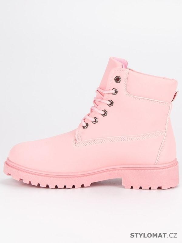 baef147e2 Růžové dámské traperky - LEMAX - Workery, trapery, farmářky