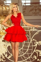 8766c29f743a Exkluzivní šaty s krajkovým výstřihem červené