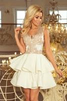 9ae6f4ee5447 Exkluzivní šaty s krajkovým výstřihem zlaté