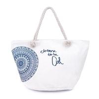 1618fac8b8 Plážová taška s mandalou bílá