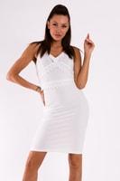 6f09441d3e Letní bílé sexy šaty s ramínkama
