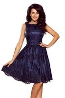 4835e69192c7 Exkluzivní plesové šaty s širší sukní tmavě modré