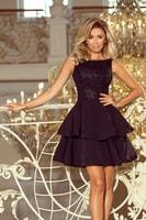 12cdb76ec071 Společenské šaty s vyšívaným topem černé