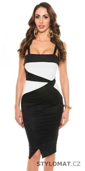 2b37793a6c14 Černobílé elegantní šaty - Koucla - Party a koktejlové šaty