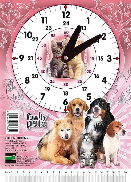 be94c3799 EMIPO SHOP - Školní hodiny Happy cats - Family pets - Školní hodiny -  Doplňky, Pro žáky