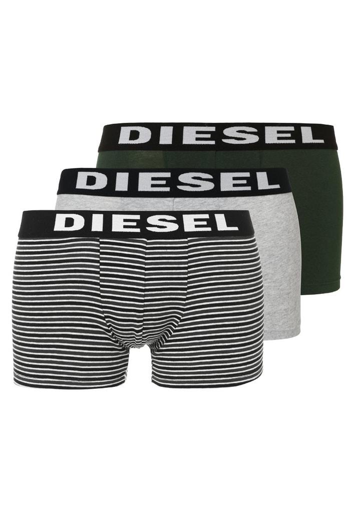 Pánské boxerky DIESEL Shawn 3-pack šedá/olive - XL