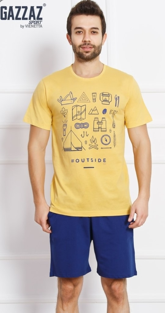 6f8ab1194efa Pánské pyžamo šortky Outdoor - žlutá