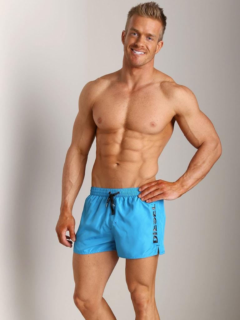 441131ad5 Pánské plavky DIESEL Coralred 88Y světle modré | šortky a delší ...