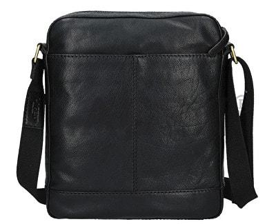 3b882ed4af Pánská černá kožená taška přes rameno LAGEN LN-22013