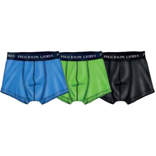 28eb5ccf81 Sada boxerek Polo Ralph Lauren 3 Pack Trunk Turquoise Green Black  251U3TNK-B6598-VPK08