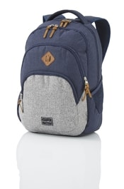Studentský batoh TRAVELITE Basics Backpack Melange Navy/grey