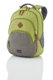 Studentský batoh TRAVELITE Basics Backpack Melange Green/grey