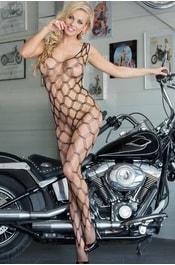 Bodystocking SOFTLINE She-cat černý