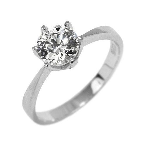 1af261f85 Stříbrný prsten SILVEGO se Swarovski Zirkony 7 mm | Silvego ...