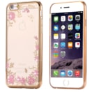 TPU POUZDRO FLOWER IPHONE 6 GOLD
