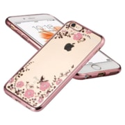 TPU pouzdro Flower Samsung A105 Galaxy A10 Rose Gold