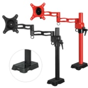ARCTIC Z1 red - single monitor arm with USB Hub in