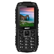 iGET Defender D10 Black - odolný telefon IP68, DualSIM, 2500 mAh, BT, powerbanka, svítilna, FM, MP3