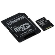 128GB microSDXC Kingston CL10 UHS-I 80R + SD adap.