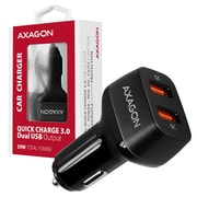 AXAGON PWC-DQC, dual QUICK nabíječka do auta, 2x port QC3.0/AFC/FCP/PE+/SMART, 39W