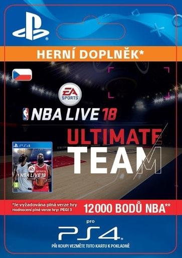 ESD CZ PS4 - EA SPORTS™ NBA LIVE 18 ULTIMATE TEAM™ - 12000 NBA POINTS