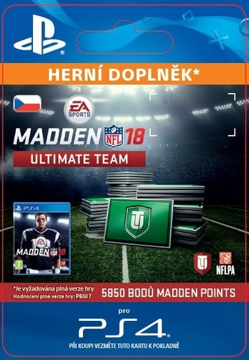 ESD CZ PS4 - 5850 MADDEN NFL 18 ULTIMATE TEAM POINTS