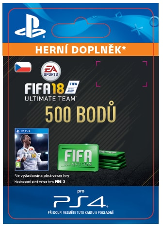 ESD CZ PS4 - 500 FIFA 18 POINTS PACK