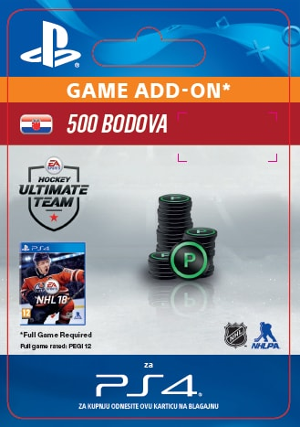 ESD CZ PS4 - 500 NHL 18 POINTS PACK