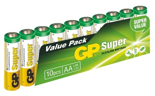 GP SUPER ALKALINE 10KS AA