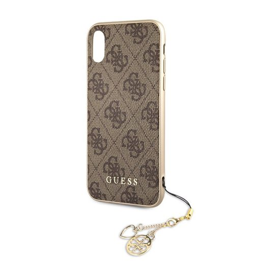 GUHCI61GF4GBR GUESS CHARMS HARD CASE 4G BROWN PRO IPHONE 6.1