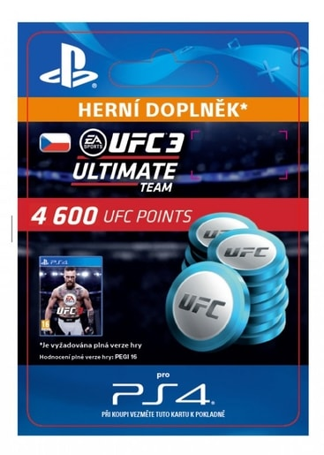 ESD CZ PS4 - EA SPORTS™ UFC® 3 - 4600 UFC POINTS