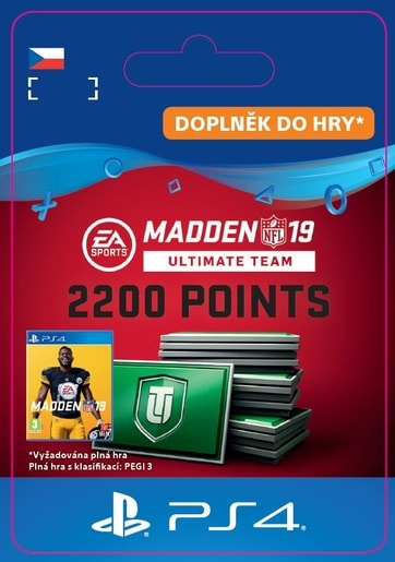 ESD CZ PS4 - MADDEN NFL 19 ULTIMATE TEAM 2200 POINTS PACK