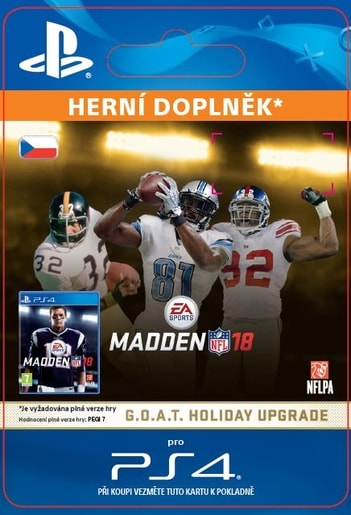 ESD CZ PS4 - MADDEN NFL 18: G.O.A.T. HOLIDAY UPGRADE