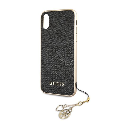 GUHCI61GF4GGR GUESS CHARMS HARD CASE 4G GREY PRO IPHONE 6.1