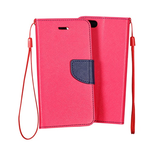 POUZDRO FANCY SAMSUNG A700 GALAXY A7 PINK/NAVY