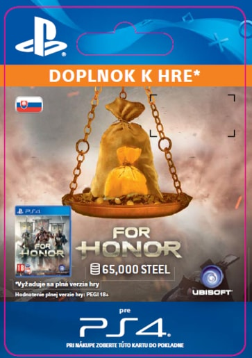 ESD CZ PS4 - FOR HONOR™ 65 000 STEEL CREDITS PACK