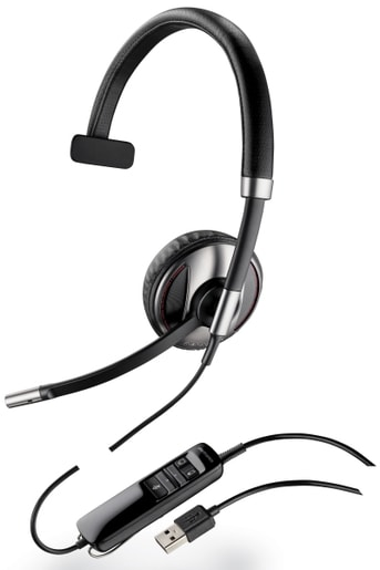 PLANTRONICS BLACKWIRE C710, MONO, USB, MS