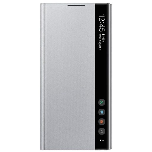 SAMSUNG CLEAR VIEW COVER PRO GALAXY NOTE10+ SILVER