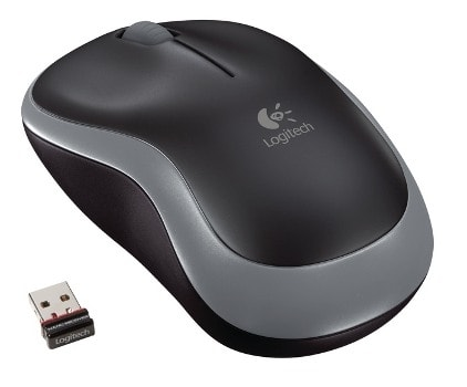 MYŠ LOGITECH WIRELESS MOUSE M185 NANO, ŠEDÁ