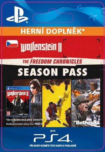 ESD CZ PS4 - WOLFENSTEIN® II: THE FREEDOM CHRONICLES SEASON PASS (AV. 27.10.17)