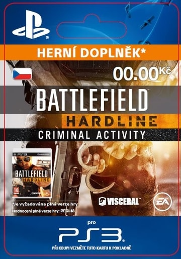 ESD CZ PS4 - BATTLEFIELD™ HARDLINE CRIMINAL ACTIVITY