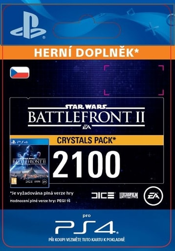 ESD CZ PS4 - STAR WARS™ BATTLEFRONT™ II: 2100 CRYSTALS (AV. 14.11.2017)