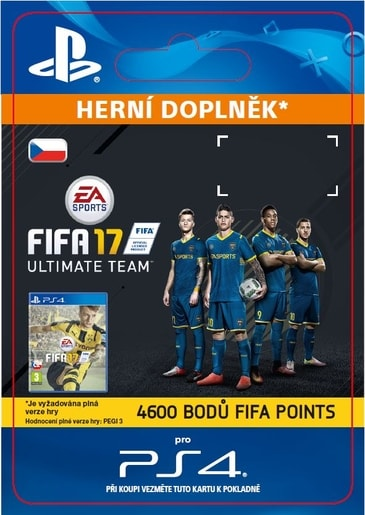 ESD CZ PS4 - 4600 FIFA 17 POINTS PACK