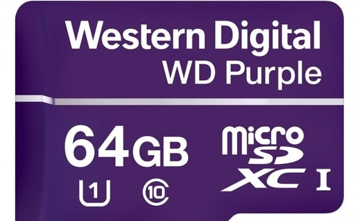 WD PURPLE MICROSDXC 64GB 80MB/S