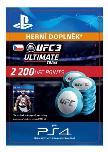 ESD CZ PS4 - EA SPORTS™ UFC® 3 - 2200 UFC POINTS