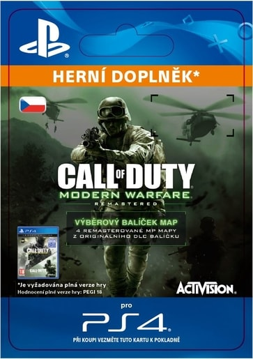 ESD CZ PS4 - CALL OF DUTY: MWR VARIETY MAP PACK (EFIGSP)