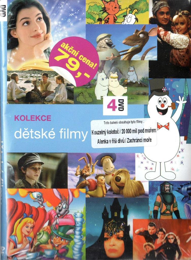 DVD kolekce Dětské filmy - Kouzelný kolotoč / 20 000 mil pod mořem / Alenka v říši divů / Zachránci moře